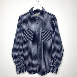 Levi's Blue/Navy Plaid Shirt